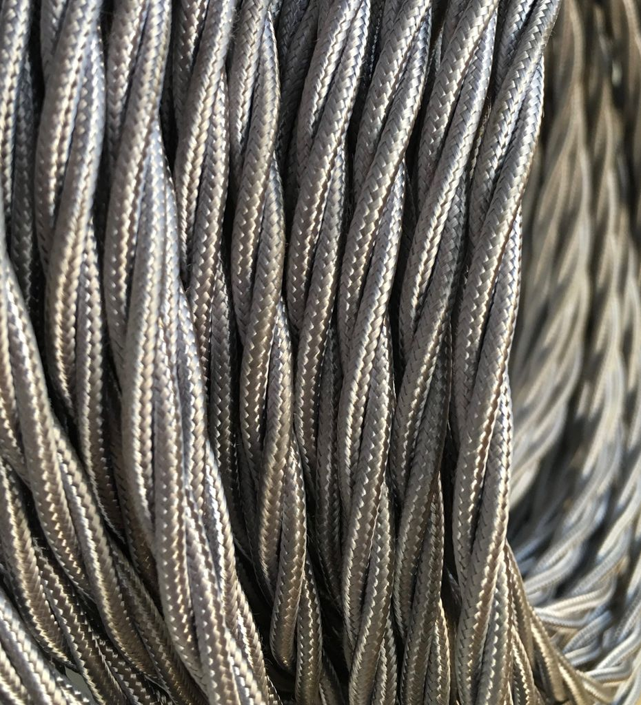 Grey Twisted Cable