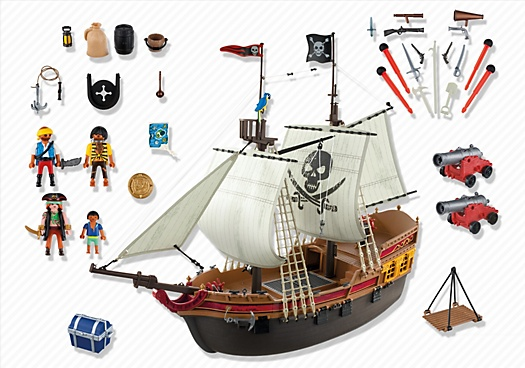 ... Playmobil Pirates Ship (5135) ...