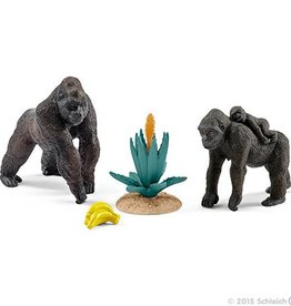 Schleich Gorilla Family - Scenery Pack World of Nature Wild Life (41347)