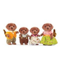 Calico Critters Chocolate Labrador Family