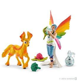 Schleich Rainbow Elf Dunya With Foal (41438)