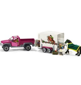 Schleich Pick Up with Horse Trailer (42346)