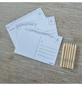 Seedling I'll Write You Postcard Set