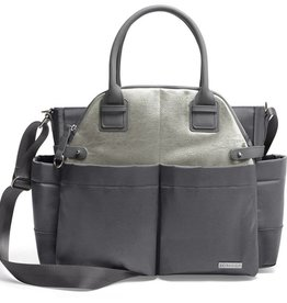 Skip Hop CHELSEA downtown chic satchel Charcoal