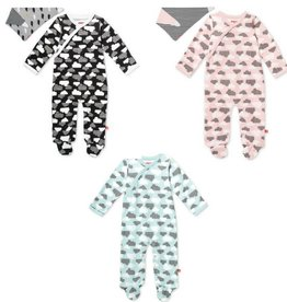 Skip Hop Star Struck Side Snap Footie & Bandana Set