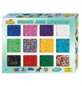 Hama 9,600 Midi Beads with Storage Tray