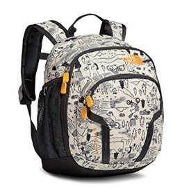The North Face Y Sprout Backpack - Vintage White Critter Print/Zinnia Orange