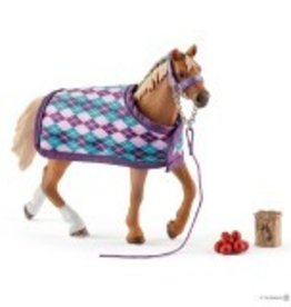 Schleich English Thoroughbred with Blanket (42360)