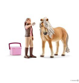 Schleich Groom with Icelandic Pony Mare (41431)