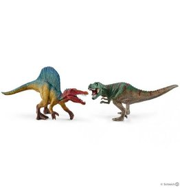 Schleich Spinosaurus and T-rex Small 41455