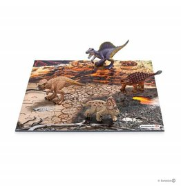 Schleich Mini dinosaurs with lava field puzzle (44212)