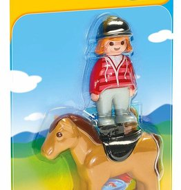 Playmobil 1.2.3. - Equestrian with Horse (6973)