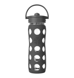 Lifefactory 22oz Straw Cap Glass Bottle Carbon