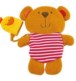 Hape Teddy and Duck Bath Mitt Set