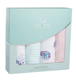 aden + anais Classic Swaddles Thistle 4-Pack