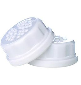 Flat Caps 2 Pack for 4oz and 9oz Bottles, White