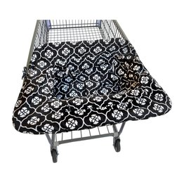 Compact Shopping Cart Cover Black Magnolia