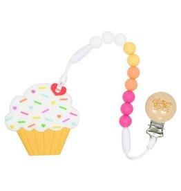 Glitter & Spice Cupcake Teether - Raspberry Lemonade