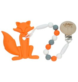 Glitter & Spice Fox Teether - Orange