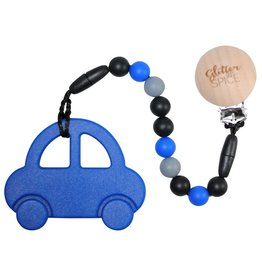 Glitter & Spice Car Teether - Royal Blue