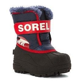 Sorel Children's Snow Commander Boot Nocturnal, Sail Red