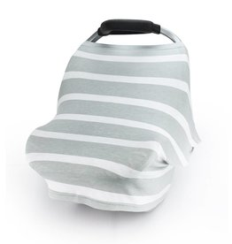 Carseat Canopy Grey Stripes Stretch Cover