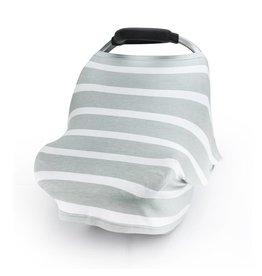 Grey Stripes Stretch Cover