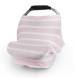 Carseat Canopy Pink Stripes Stretch Cover