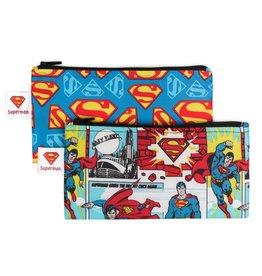 Bumkins DC Comics Small Snack Bags 2 pack Superman
