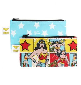 Bumkins DC Comics Small Snack Bags 2 pack Wonder Woman