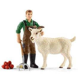 Schleich Farmer with Goat (42375)