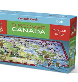 Crocodile Creek Discover Canada Learn + Play Puzzle 100pc