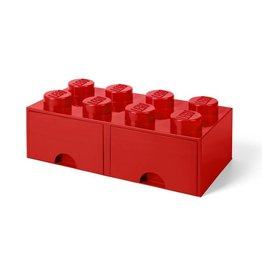 Lego Brick Storage Drawer 8 Red