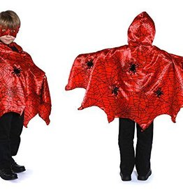 Great Pretenders Hooded Spider Cape, Red/Black