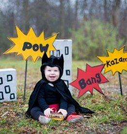 Great Pretenders Toddler Bat Cape, Black