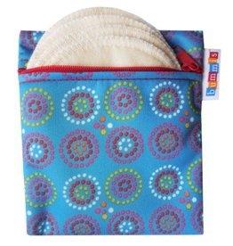 Breast Pad Travel Pack Blue Organic