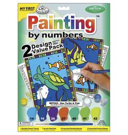 Royal Langnickel Paint by numbers Sea Turtle & Fish