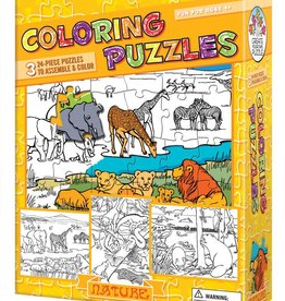 Create Your Own Puzzle Coloring Puzzles Nature