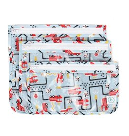 Bumkins Clear Travel Bags - Fire Engine