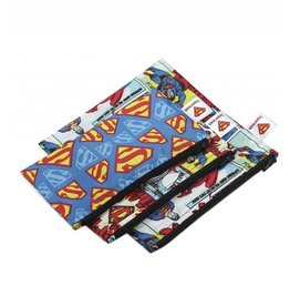 Bumkins DC Comics Small Snack Bags 3 pack Superman