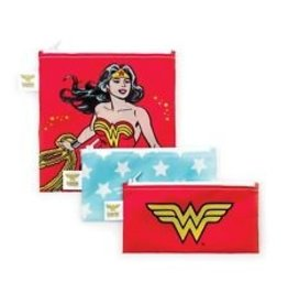 Bumkins DC Comics Small Snack Bags 3 pack Wonder Woman