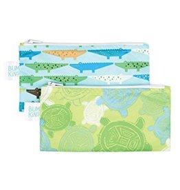 Bumkins Reusable Snack Bag  2 pack Small - Crocs/Turtles
