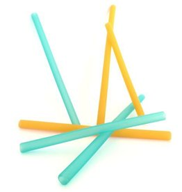 Silicone Family Straws 6 pack