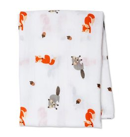 Cotton Muslin Swaddle Forest friends