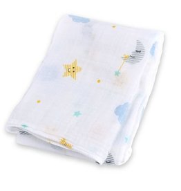 Lulujo Cotton Muslin Swaddle  Dreamland