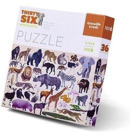 Crocodile Creek Wild Animals Thirty-Six Animals Puzzle