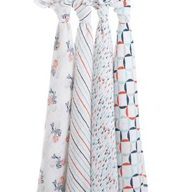 aden + anais Swaddles 4 pack Tea Collection Fish Pond Classic