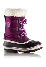 Sorel Children's Yoot Pac Nylon Bramble, Black/ Murier, Noir