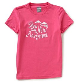 The North Face Girls' Short Sleeve Graphic Tee Petticoat Pink