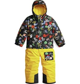 The North Face Toddler Insulated Jumpsuit TNF Black Bombdiggity Print